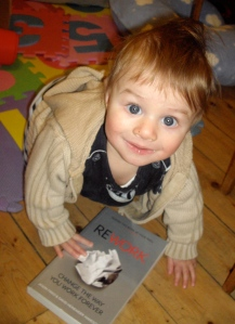 Baby with book - powder compact diaries
