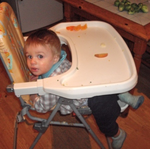 William escaping high chair