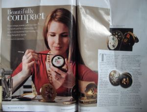 My vintage powder compacts in Lancashire Life