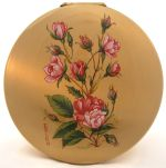 Stratton vintage powder compact with roses