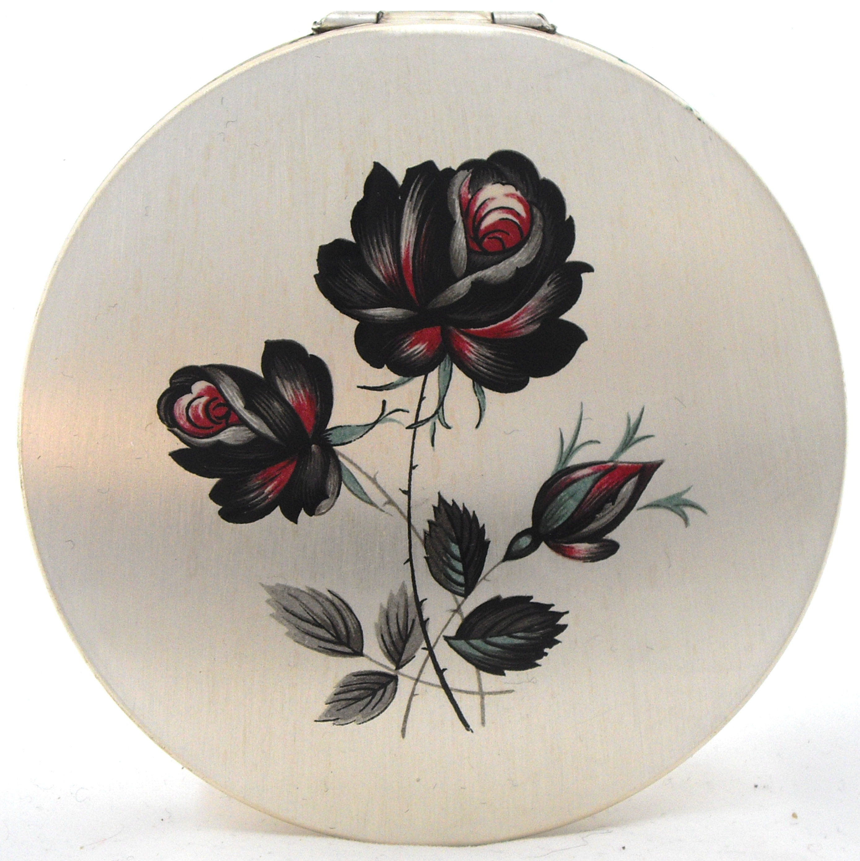 vintage rose compact by Stratton