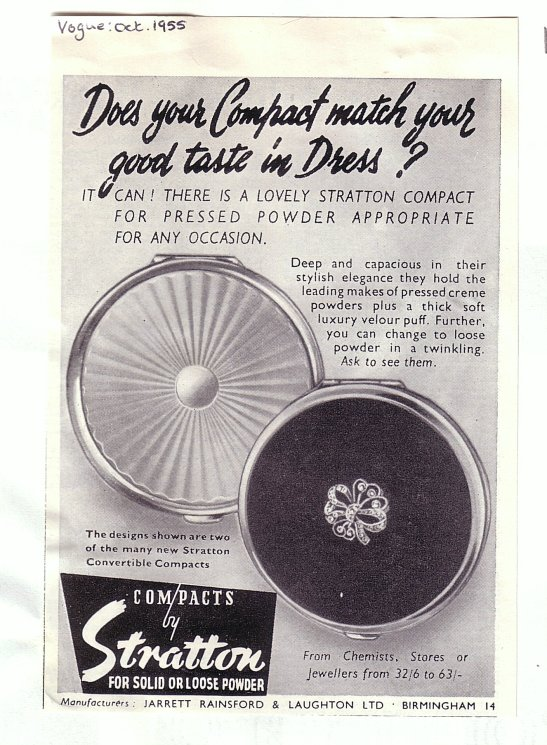 Stratton's 1955 ad for Vogue magazine
