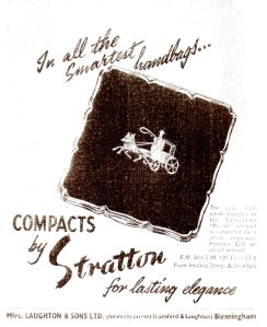 Stratton's 1958-1959 ad for Vogue's Beauty Book