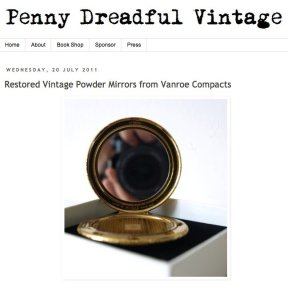 VanRoe powder compacts at Penny Dreadful VIntage