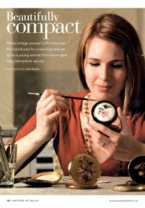 Vanroe Vintage Powder Compacts Jane Johnston in Lancashire Life