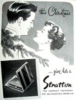 1950s stratton vintage powder compact advert