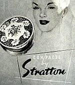 1953 stratton vintage powder compact advert