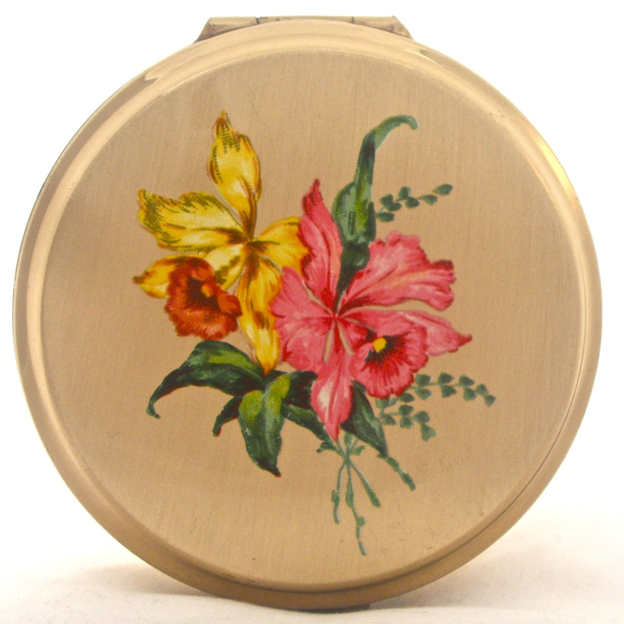 Vintage Orchid Stratton powder compact