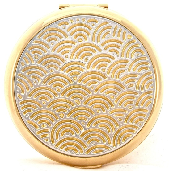 A modern best-seller - Stratton's 1930s-style gold wave compact