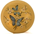Vintage KIGU butterfly powder compact