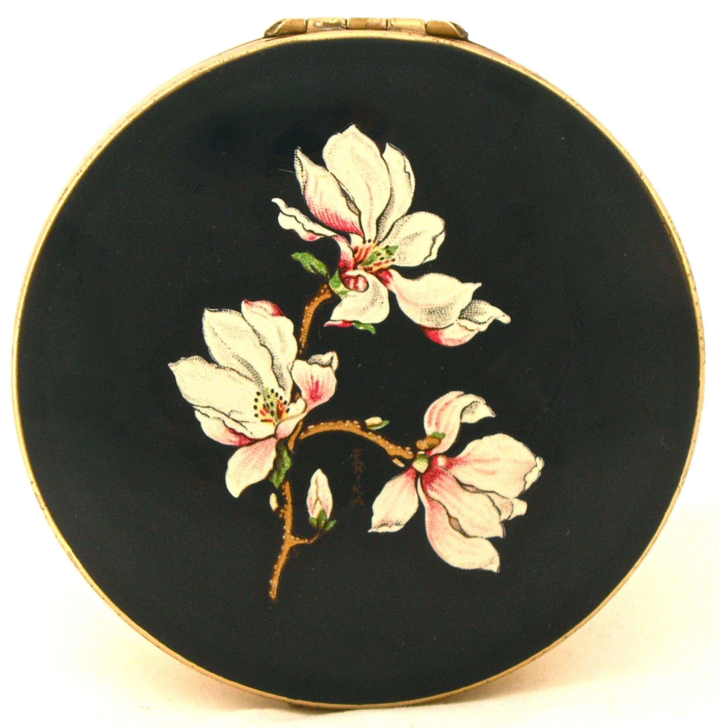 Vintage Stratton magnolias compact - Erika