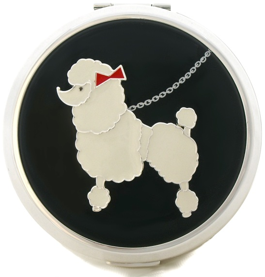 lulu guinness poodle powder compact