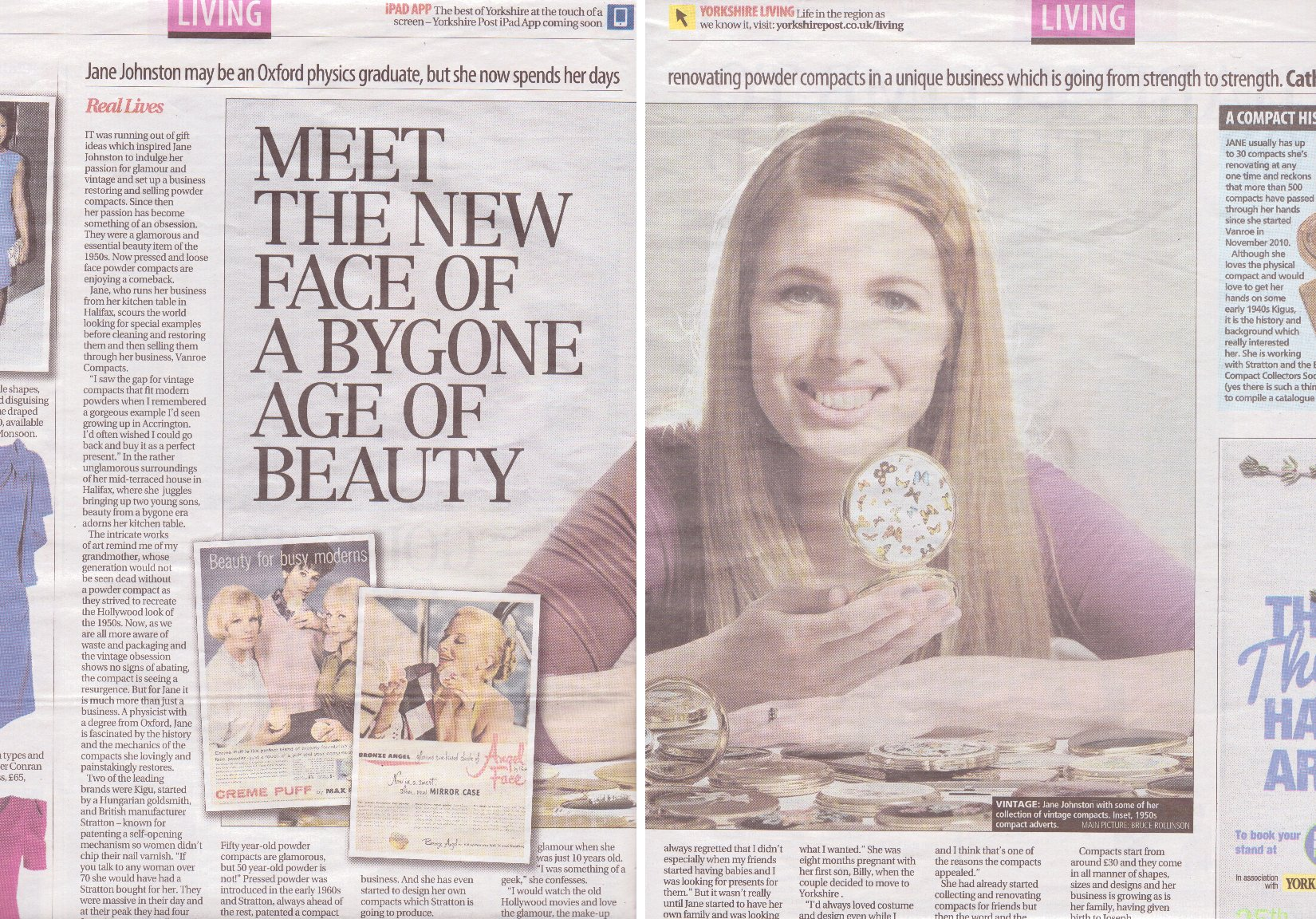 Yorkshire Post Powder Compact Article