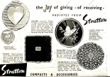 1959 advert for Stratton powder compacts My Home magazine