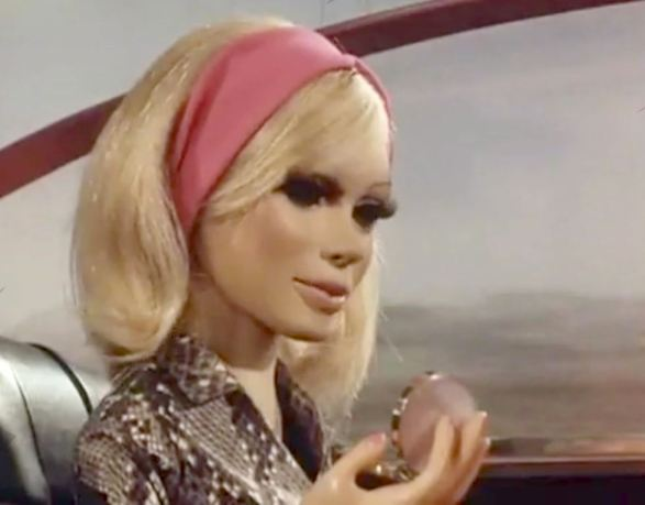 Lady Penelope with her powder compact