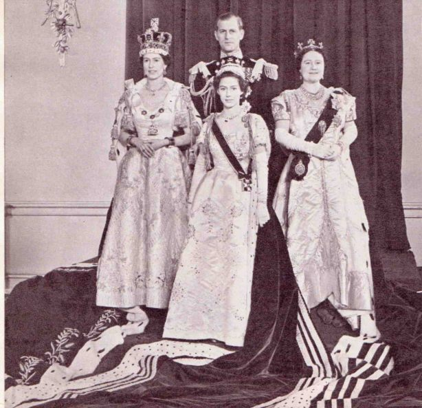 The Royal Family 1952 Coronation Robes
