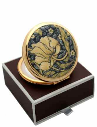 William Morris Pimpernel in Cream Stratton Powder Compact