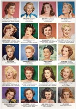 1950s filmstar hair and makeup