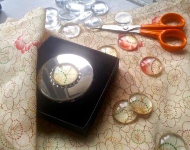 foiled kimono silk mirror compact