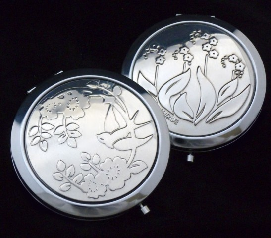 Designer compact mirrors in British pewter by VANROE