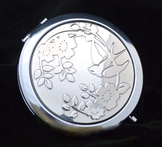 Rose & swallow compact mirror by designer VANROE