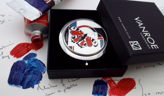 butterfly enamel compact mirror uk