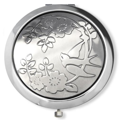 Rose & Swallow Compact Mirror at Vanroe UK