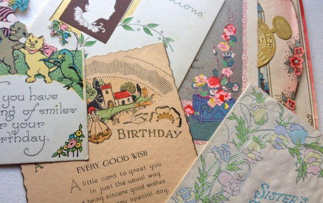 Art deco greetings cards