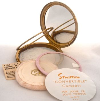 stratton convertible powder compact vintage